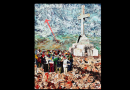"Well-Known Artist Johno Prascak Inspired in Medjugorje – ""I saw suffering souls of purgatory in the rocks of Cross Mountain."" Can you find the Blessed Mother in the painted sky?"