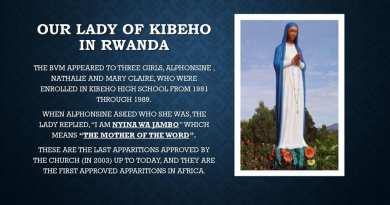 "Catholic Prophecy from Jesus and the Virgin Mary at Kibeho: ""The Mother of the Word emphasized the importance of the preparation of the human race for the new coming of the Lord, the last and definitive one that will bring with it the last judgment."""