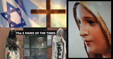 "The Five Signs of the Times ""It is not really the end of the world – but rather, the end of Satan's reign on earth. The Immaculate Heart of Mary will triumph,"""