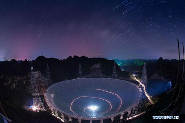 FAST Radio Telescope image by Xinhua/Liu Xu