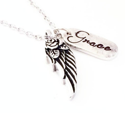 Angel Wing Cremation Keepsake Necklace by Mystic Soul