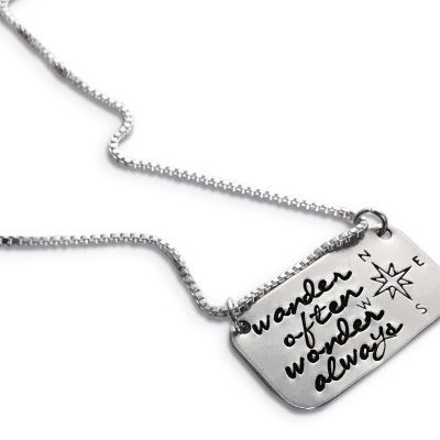 Dainty Sterling Silver Wanderlust Necklace