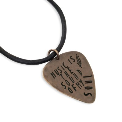 Custom Metal Guitar Pick Necklace