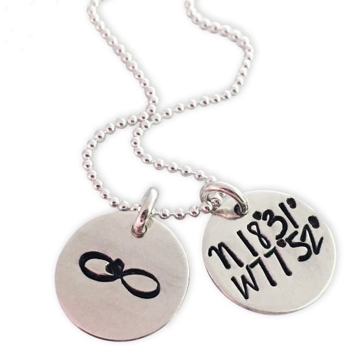 Sterling Dainty Dual Disc Coordinate Necklace