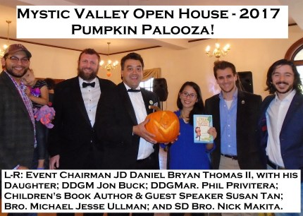 10-21-17 Pumpkin Palooza - Open House with Guest Author Susan Tan