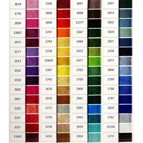 Iris Embroidery Floss Conversion Chart
