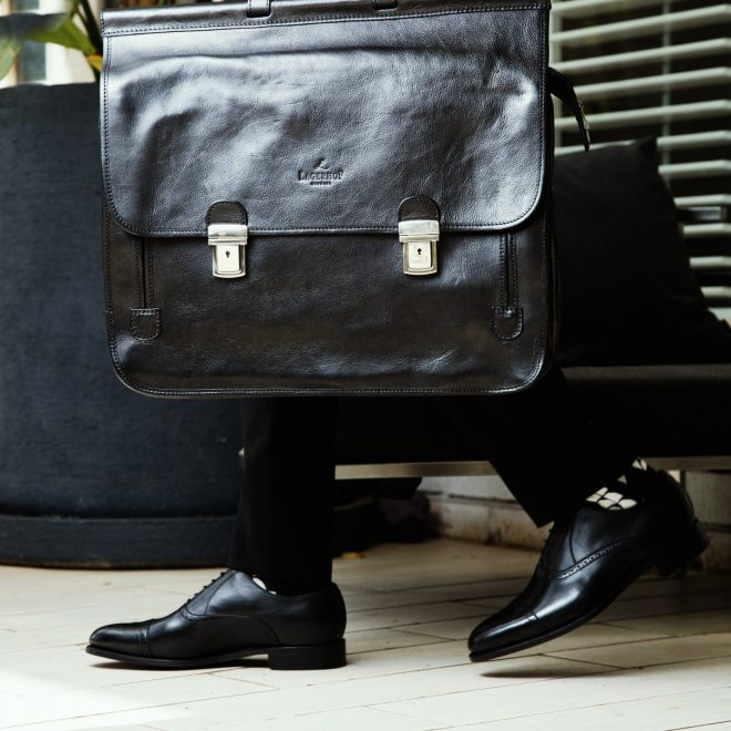 Lagerhof Black Business Briefcase