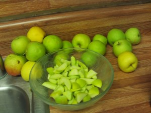 Cutting Up Apples For The Pie