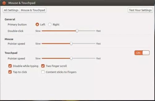 setari mouse si touchpad in ubuntu