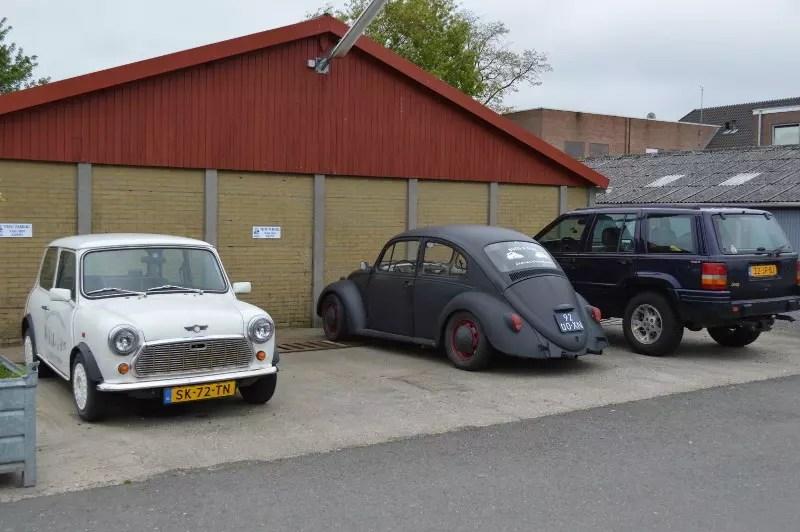 old cars in Sluis - Nederland.