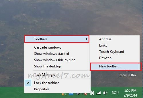 meniul start in windows 8.1 pasul 1