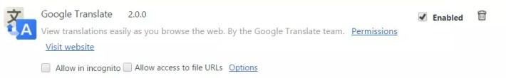 optiuni google translate