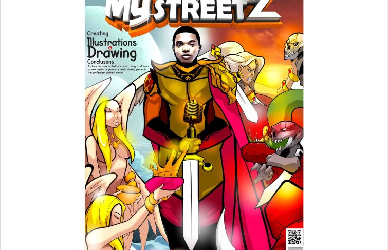 WITH AN ART ILLUSTRATION OF WIZKID, MYSTREETZ MAGAZINE COVER STORY IS ABOUT ARTISTS AND THEIR WORKS