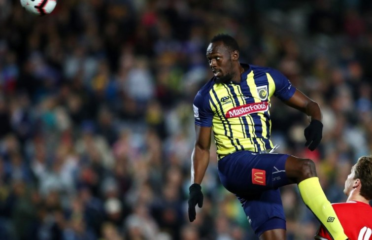 Watch Usain Bolt debuts His Professional Football