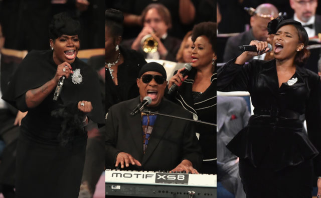 Watch Jennifer Hudson, Stevie Wonder, Fantasia, And More Perform At Aretha Franklin's Funeral
