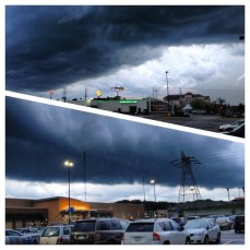 Enjoyed some weird weather at our new home