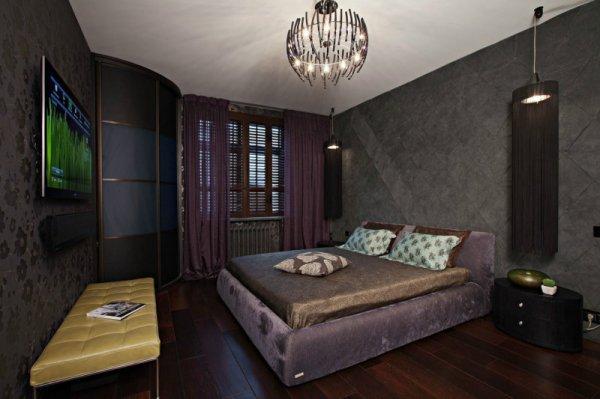 Темная спальня - 100 фото лучших идей как оформить дизайн ...