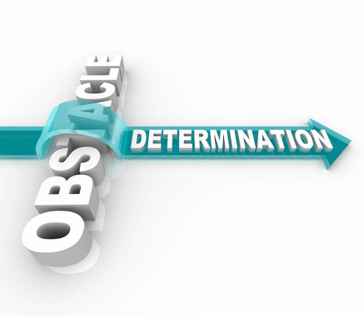 determination vs obstacle