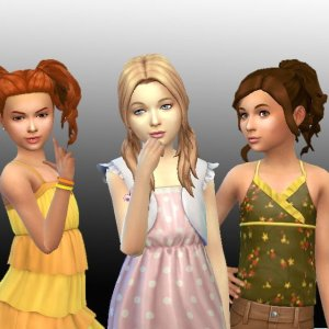 Girls Tied Hair Pack