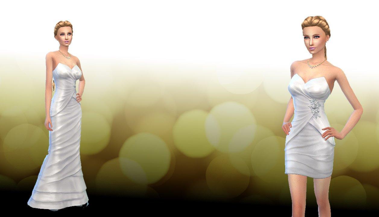 How to Transform a Long Dress in a Short Dress