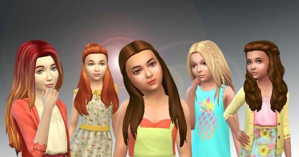 5 Girls Long Hairs 2