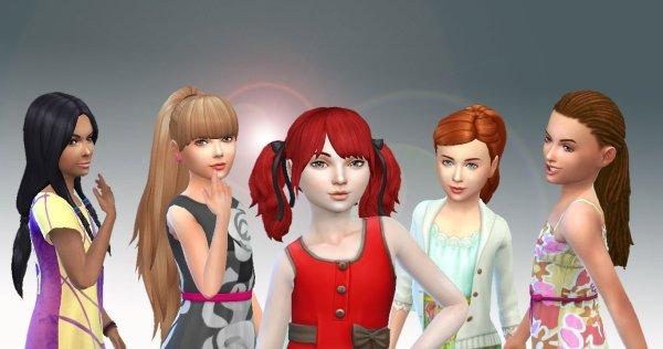 5 Girls Tied Hairs 2