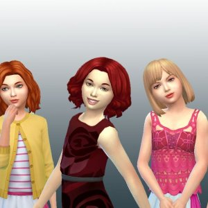 Girls Medium Hair Pack 2