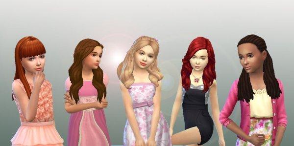 Girls Long Hair Pack 5