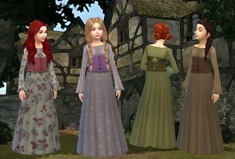 Medieval Dress for Girls