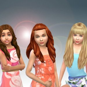 Girls Long Hair Pack 8