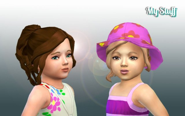 Curly Ponytail for Toddlers