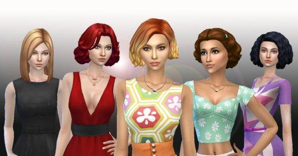 Female Medium Hair Pack 5
