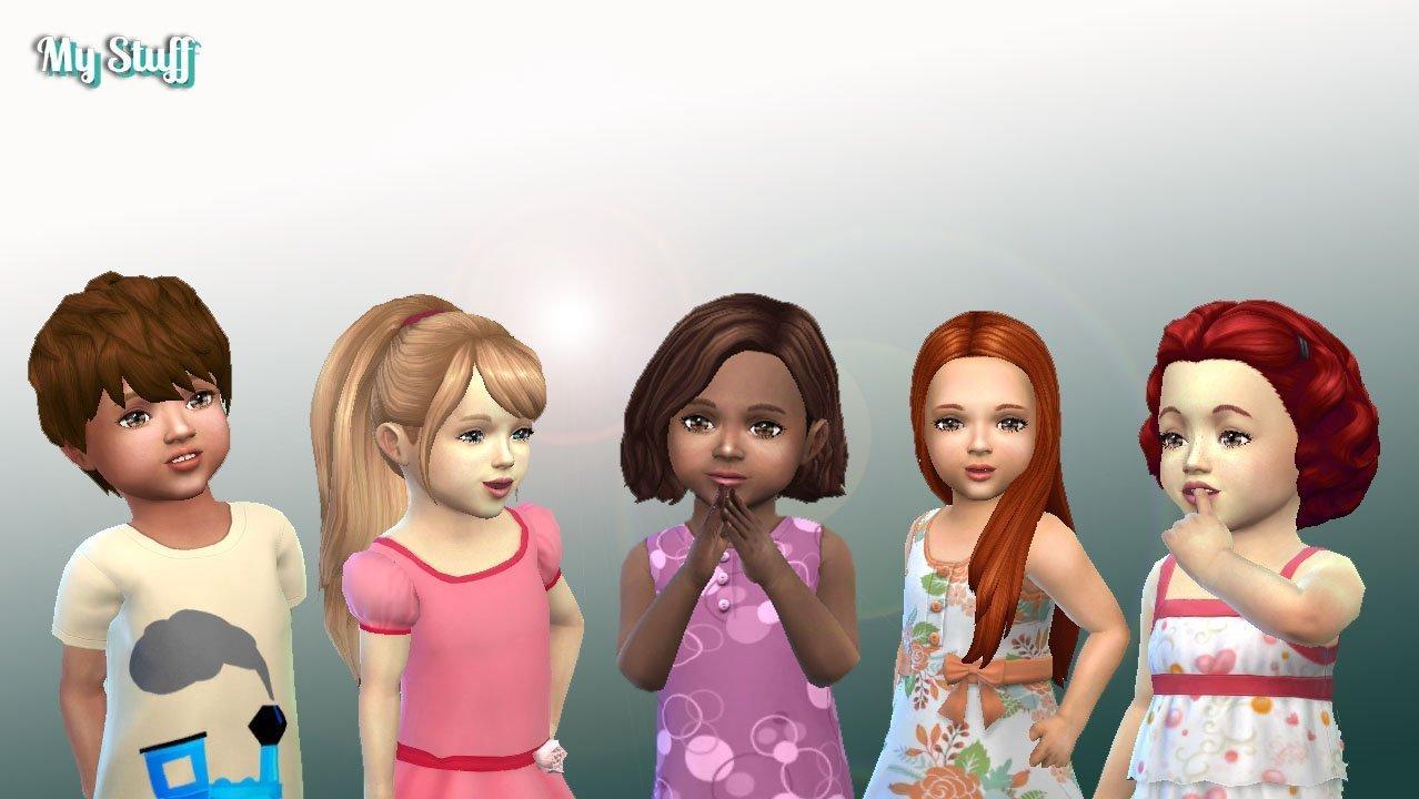 download sims 4 hair toddler