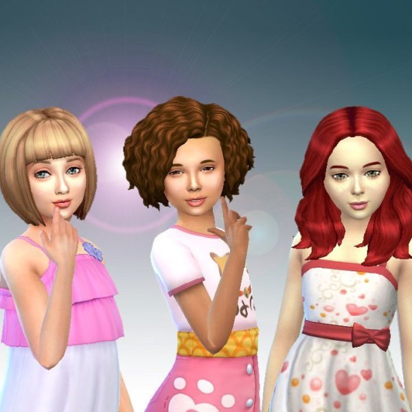 Girls Medium Hair Pack 7