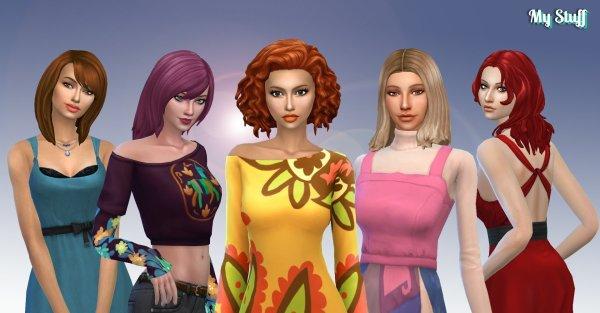 Female Medium Hair Pack 8