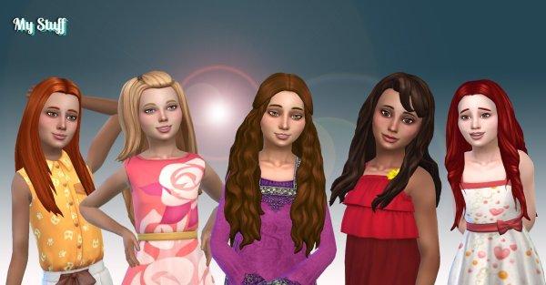 Girls Long Hair Pack 14