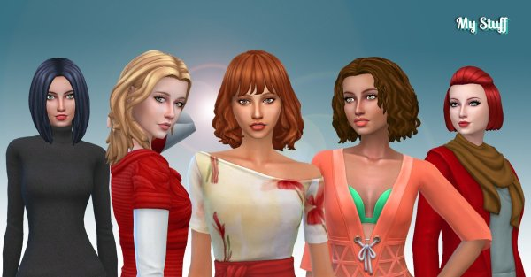 Female Medium Hair Pack 10