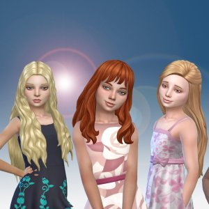 Girls Long Hair Pack 16