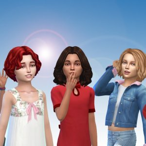 Girls Medium Hair Pack 13