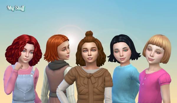 Girls Medium Hair Pack 14
