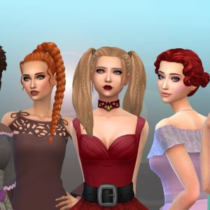 Female Tied Hairs Pack 14