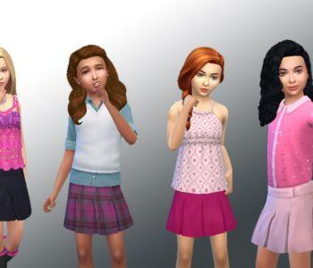 Skirt Pleated Mini for Girls