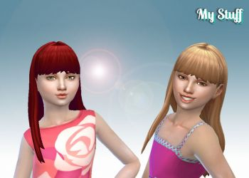 Straight With Bangs for Girls