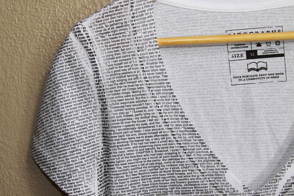 91ae593e I've had a lot of fun wearing my Litographs Moby Dick T Shirt! It is fun  and so different! If you're a book lover, than why not show it by wearing  your ...