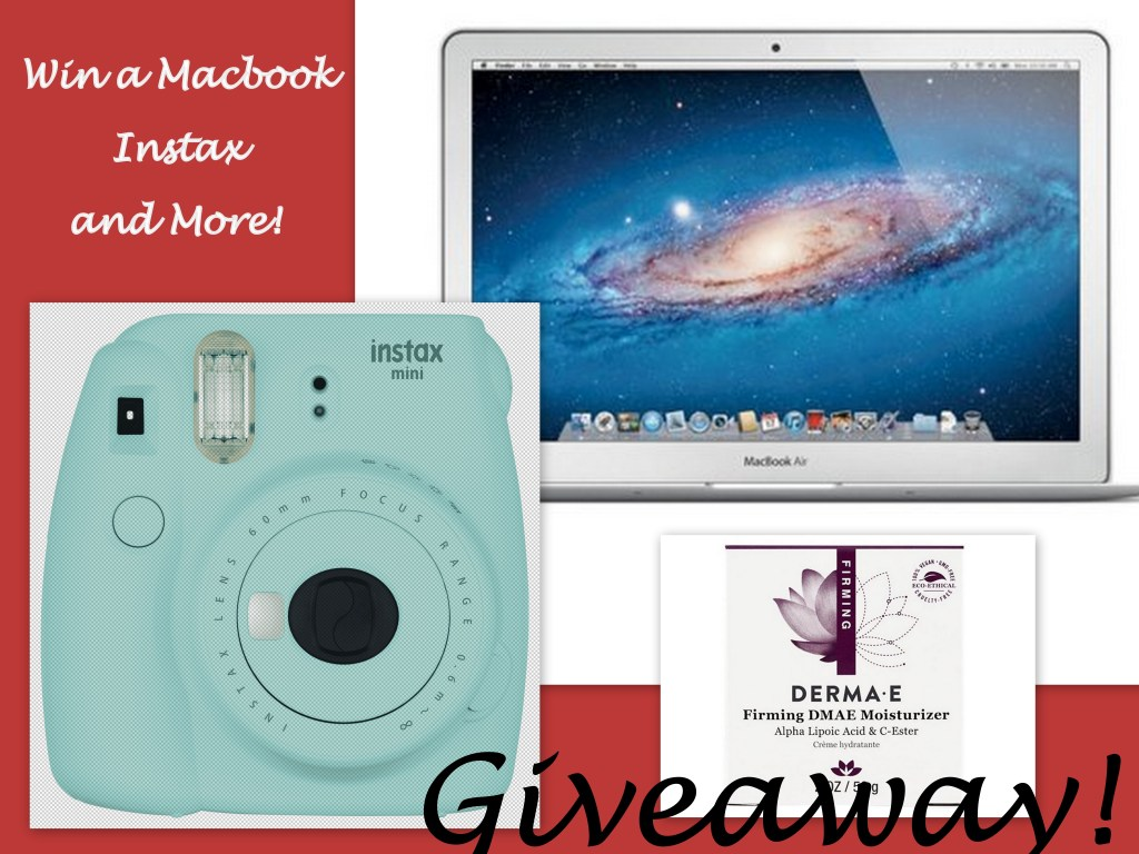 Win a macbook, instax, skincare and more!
