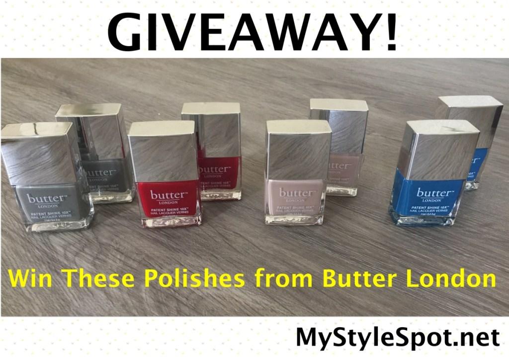 Butter London patent shine 10x nail polish giveaway