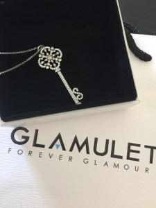 Glamulet silver key pendant necklace