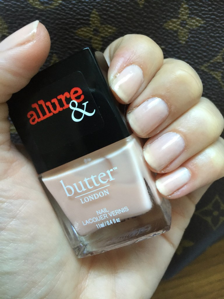 Butter london for allure nail polish in nude stiletto