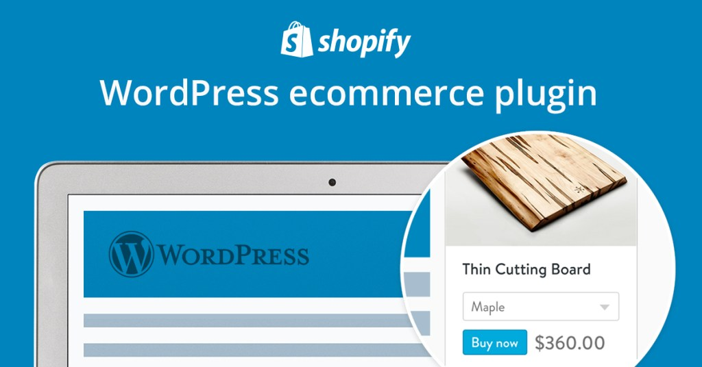 shopify-wordpress-ad e commerce to your site