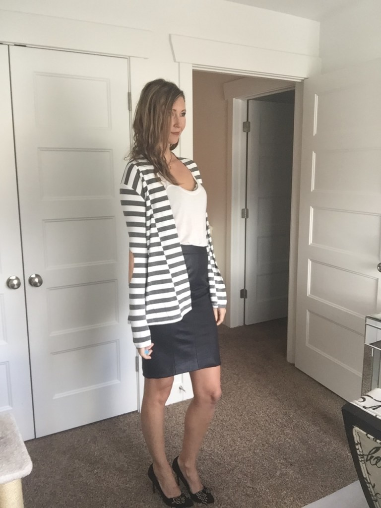 win a cute Striped blazer jacket